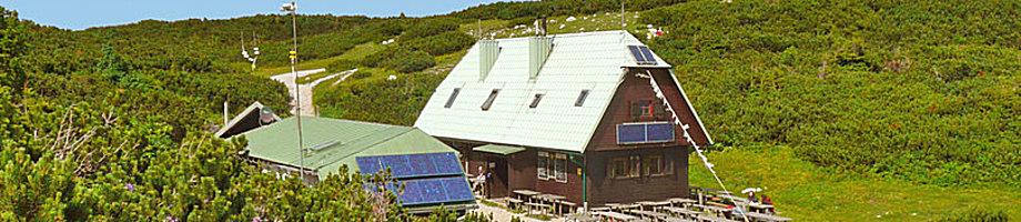 "Sektionseigene Hütte: ""Höllentaler-Holzknecht-Hütte"" (Neue Seehütte), 1.648m, Rax"